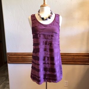 Ann Taylor LOFT Purple Sleeveless Shift Dress M